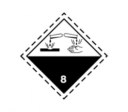 Naklejka ADR - SUBSTANCJE ŻRĄCE klasa 8 100x100
