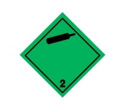 Naklejka ADR - GAZY NIEPALNE, NIETRUJĄCE 2.2 100x100