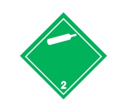 Naklejka ADR - GAZY NIEPALNE, NIETRUJĄCE 2.2 (biała) 250x250